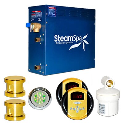 SteamSpa Royal 10.5 KW QuickStart Steam Bath Generator Package Finish: Gold