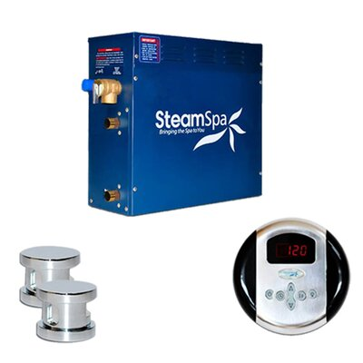 SteamSpa Oasis 12 KW QuickStart Steam Bath Generator Package Finish: Chrome