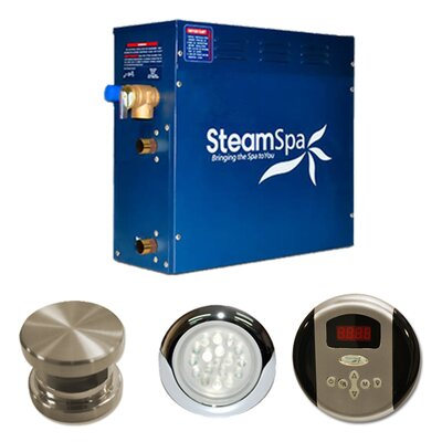 SteamSpa Indulgence 4.5 KW QuickStart Steam Bath Generator Package Finish: Brushed Nickel