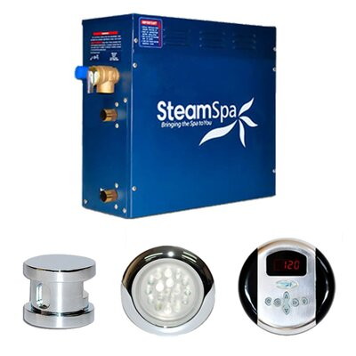 SteamSpa Indulgence 9 KW QuickStart Steam Bath Generator Package Finish: Chrome