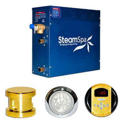 SteamSpa Indulgence 4.5 KW QuickStart Steam Bath Generator Package Finish: Gold
