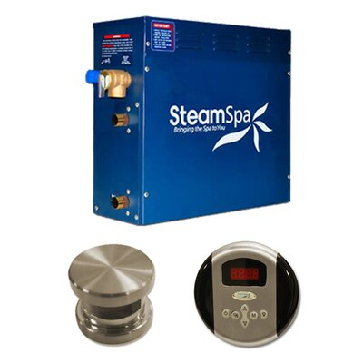 SteamSpa Oasis 9 KW QuickStart Steam Bath Generator Package Finish: Brushed Nickel