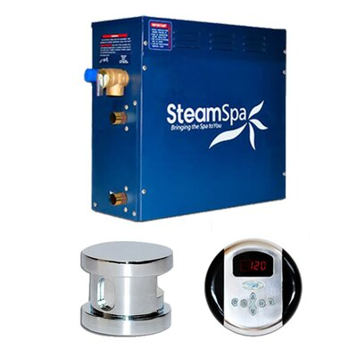 SteamSpa Oasis 6 KW QuickStart Steam Bath Generator Package Finish: Chrome