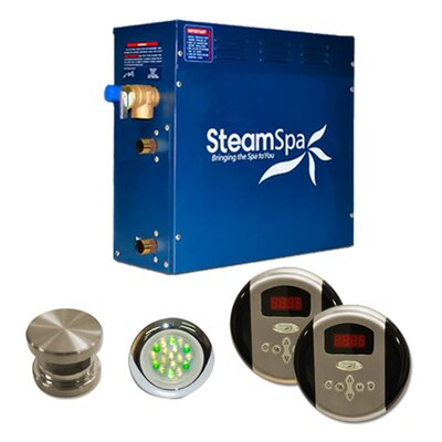 SteamSpa Royal 9 KW QuickStart Steam Bath Generator Package Finish: Brushed Nickel