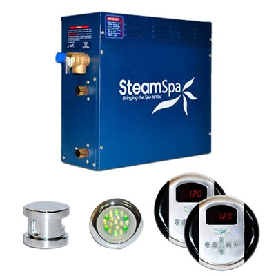 SteamSpa Royal 7.5 KW QuickStart Steam Bath Generator Package Finish: Chrome