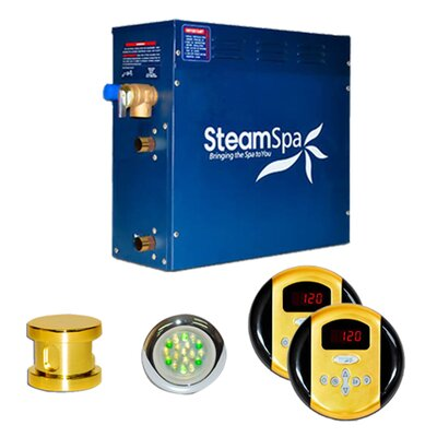SteamSpa Royal 7.5 KW QuickStart Steam Bath Generator Package Finish: Gold