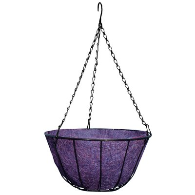 """Robert Allen Home and Garden Chateau Round Wire Hanging Basket - Color: Purple, Size: 14"""" at Sears.com"""