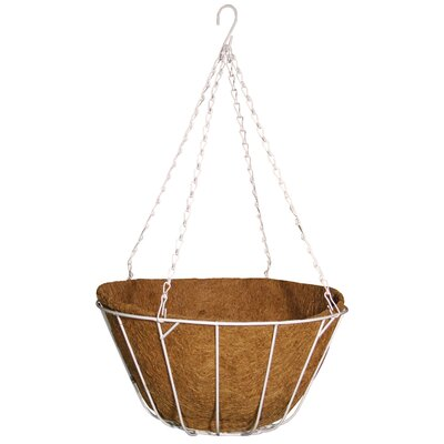 Robert Allen Home and Garden Chateau Round Wire Hanging Basket - Color: Natural, Size: 16""