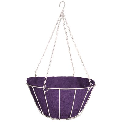 "Robert Allen Home and Garden Chateau Round Wire Hanging Basket - Size: 12"", Color: Purple"
