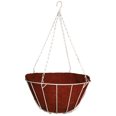 Robert Allen Home and Garden Chateau Round Wire Hanging Basket - Color: Red, Size: 16""