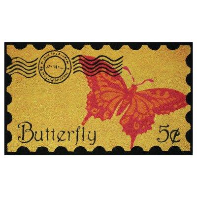 Postage Butterfly Doormat