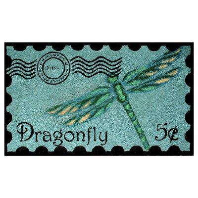 Postage Dragonfly Doormat