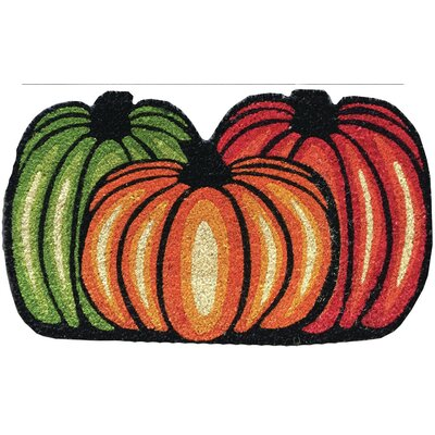 Three Pumpkins Doormat