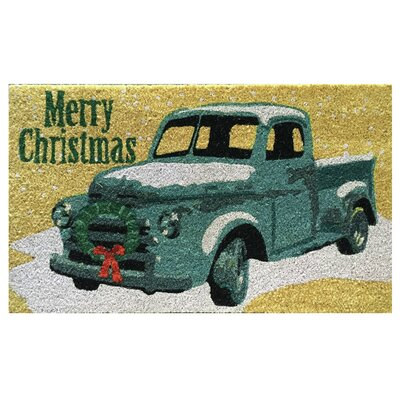 Merry Christmas Pickup Truck Doormat