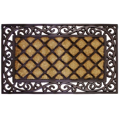 Lattice Scroll Doormat
