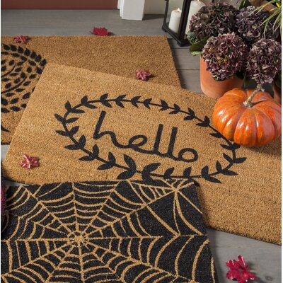 Sulema Hello Doormat Rug Size: Rectangle 2 x 3