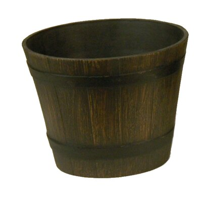 Wood Barrel Planter WB01