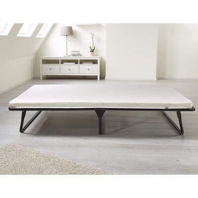 Saver Folding Bed with Memory Foam Mattress Bed Size: Single