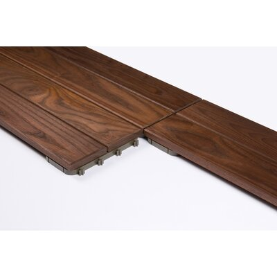 Wood 31.3 x 7.835 Interlocking Quick Deck Tiles in Brown