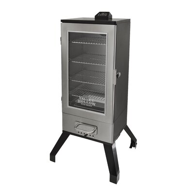 "Smoke Hollow 36"" Digital Electric Smoker with Window Finish: Brushed 3616DEWS"