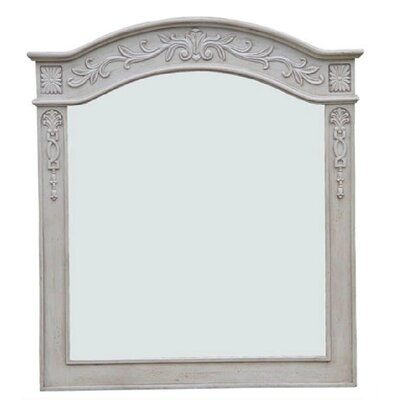 Lido Bathroom Vanity Mirror Finish: Pearl White, Size: 36