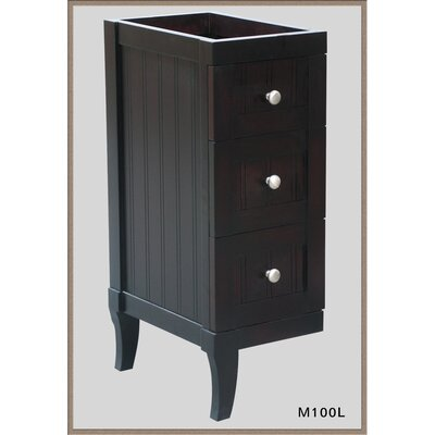 Malibu 12 W x 27.12 H Wall Mounted Cabinet Finish: Dark Mahogany, Orientation: Right Drawer