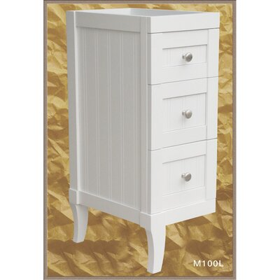 Malibu 12 W x 27.12 H Wall Mounted Cabinet Finish: White, Orientation: Left Drawer