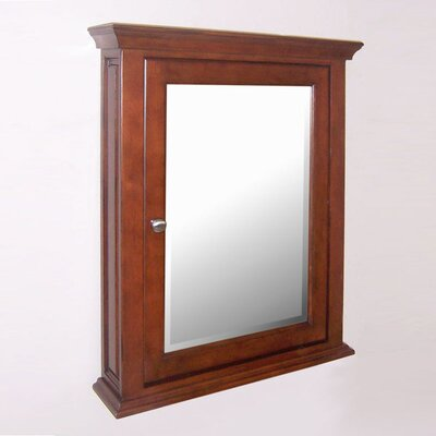 Windsor 24.9 x 30.12 Recessed Medicine Cabinet Finish: Dark Cherry