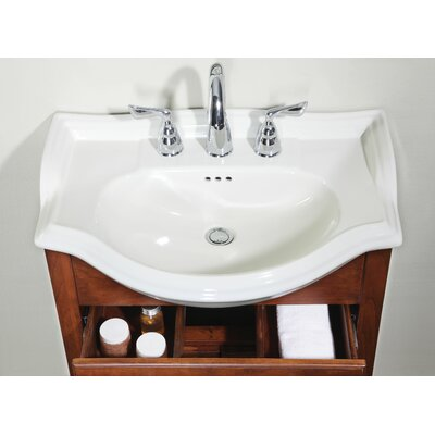 22 Single Bathroom Vanity Top Finish: Savoy White, Faucet Mount: 4 Center
