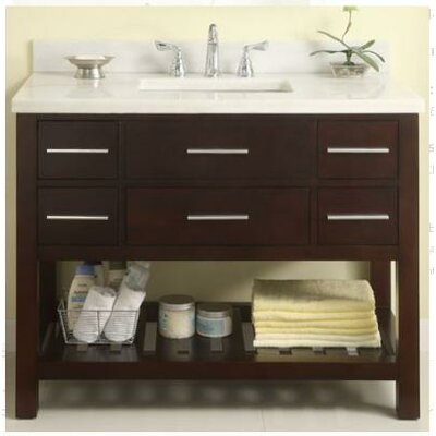 Priva 42 Open Bathroom Vanity Base