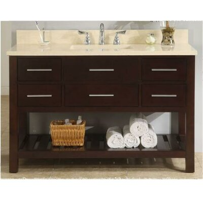 Priva 48 Open Bathroom Vanity Base Base Finish: Dark Cherry