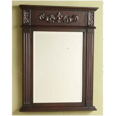 "Sienna 28"" H x 22"" W Vanity Mirror Finish: Dark Cherry"