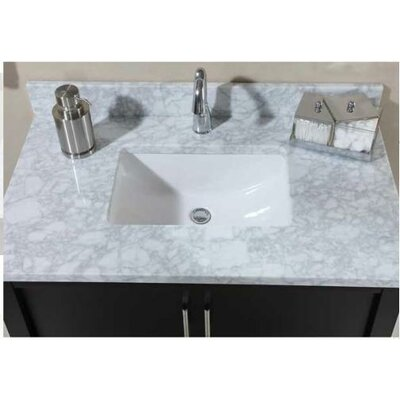 Euro 48 Marble Vanity Top Top Finish: Carrera White, Bowl Configuration: Biscuit Bowl