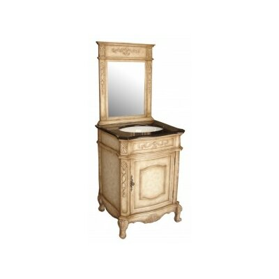 Verona 24 Single Sink Bathroom Vanity Set Base Finish: Antique White