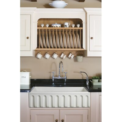 Reversible Fluted French Fireclay 33 x 18 Apron Kitchen Sink