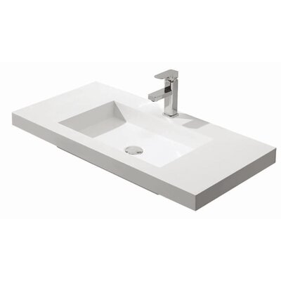 Diamond Stone Solid Surface 43 Single Bathroom Vanity Top