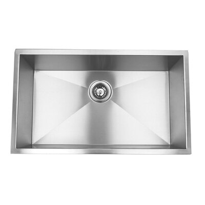 Zero Radius 30 x 18 18 Gauge Handmade Undermount Stainless Steel Kitchen Sink