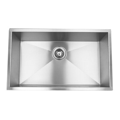 Zero Radius 32 x 19 18 Gauge Handmade Undermount Stainless Steel Kitchen Sink