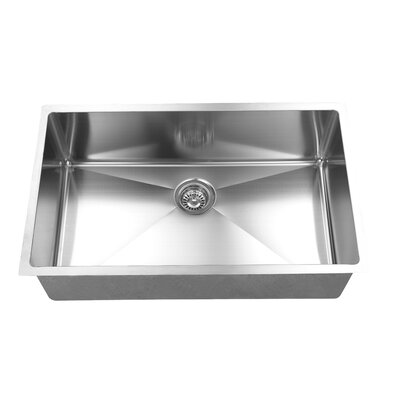 32 x 19 Handmade Undermount Stainless Steel Kitchen Sink