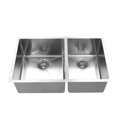 33 x 19 Double Bowl Undermount Kitchen Sink