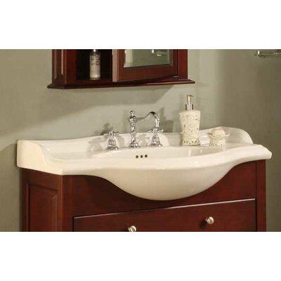 22 Single Bathroom Vanity Top Finish: Capri Biscuit, Faucet Mount: Single Hole