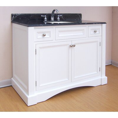 Newport  Bathroom Vanity Base Finish: White, Size: 43.5