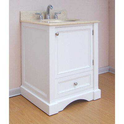 Newport  Bathroom Vanity Base Finish: White, Size: 25.5
