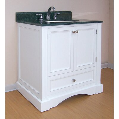 Newport  Bathroom Vanity Base Finish: White, Size: 31.5