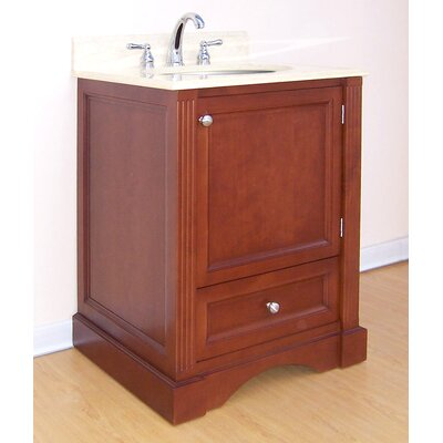 Newport  Bathroom Vanity Base Finish: Cinnamon, Size: 25.5