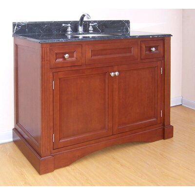 Newport  Bathroom Vanity Base Finish: Cinnamon, Size: 43.5