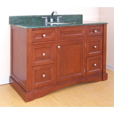 Newport  Bathroom Vanity Base Finish: Cinnamon, Size: 49.5