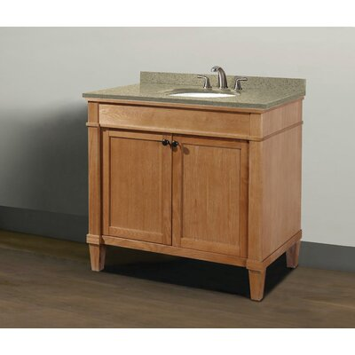 Cambridge 36 Single Vanity Set Sink Finish: White