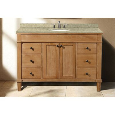 Cambridge 48 Single Vanity Set Sink Finish: Biscuit