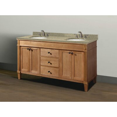 Cambridge 60 Double Vanity Set Sink Finish: White